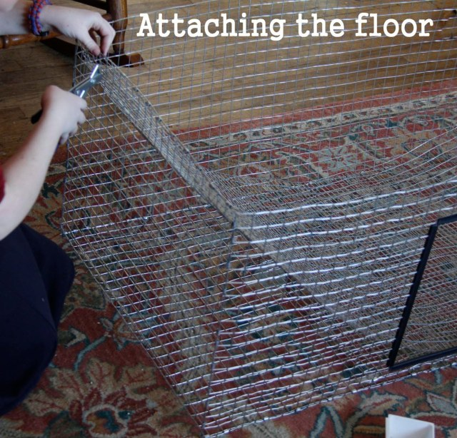 attaching the floor
