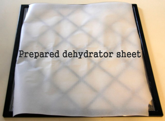 dehydrator sheet