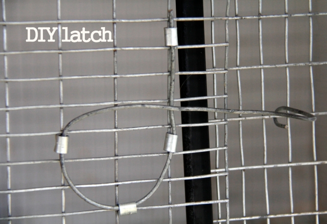 wire latch, diy, diy latch, closure, cage latch, cage closure
