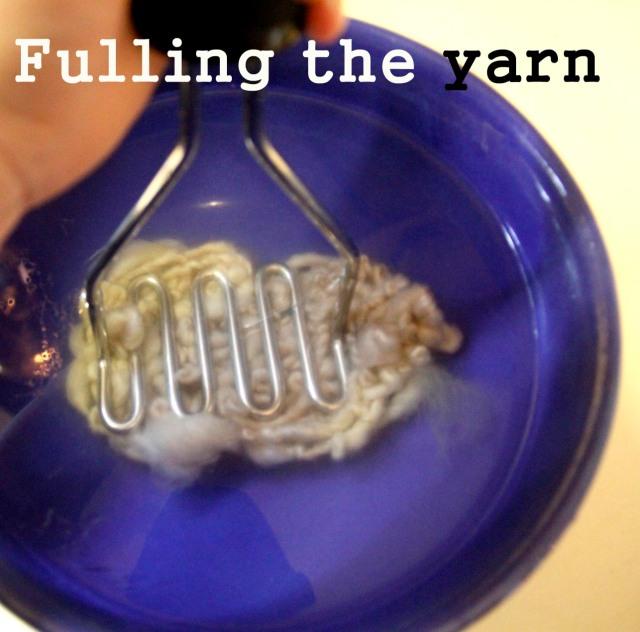 mashing yarn
