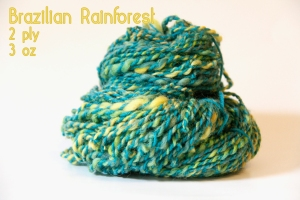 blue and green yarn, rainforest yarn