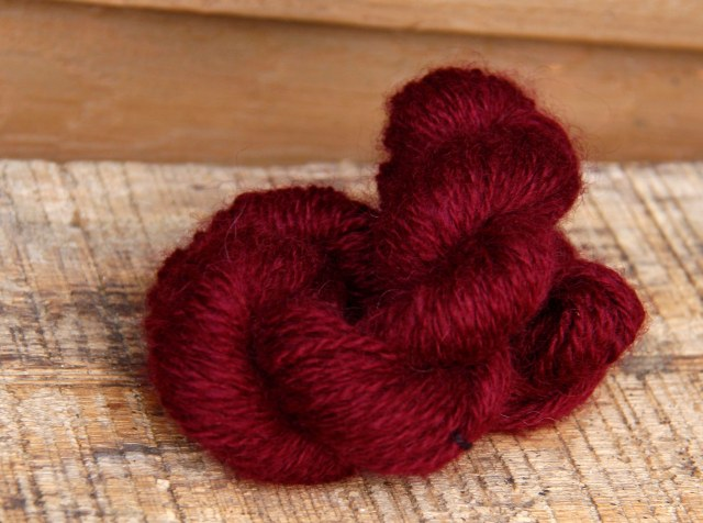 pokeberry, dyed yarn, naturally dyed yarn, handspun yarn, handmade yarn