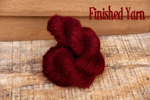 hand dyed yarn, hand spun yarn, how to dye with pokeberries